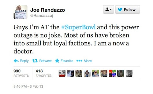 super bowl power outage tweet 4