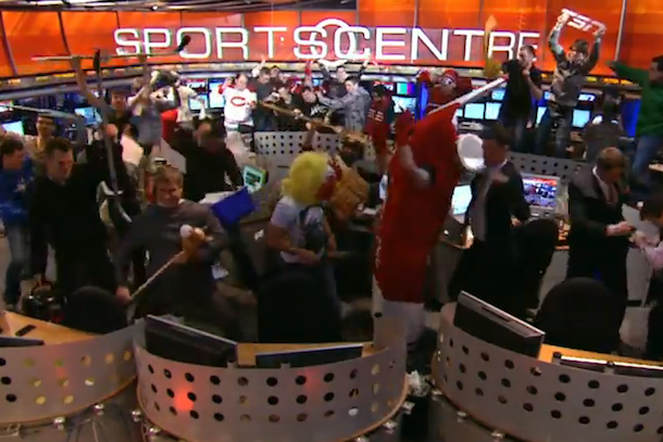 tsn sports centre harlem shake