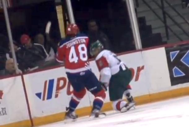 vicious two-handed slash junior hockey