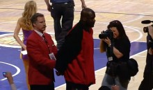 Will Ferrell Works Security at the Lakers Game, Ejects Shaq from Staples Center (Videos)