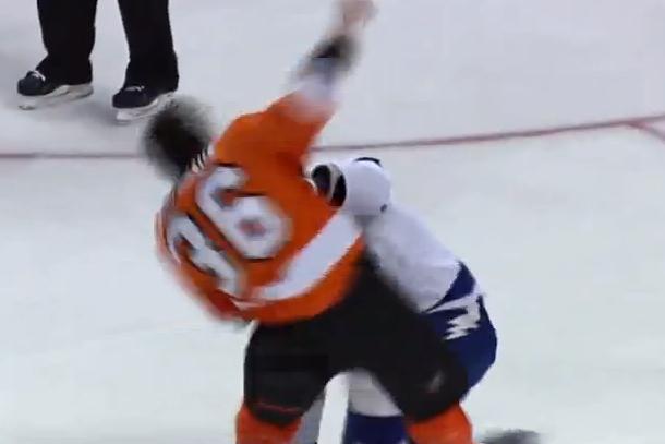 zac rinaldo vs. b.j. crombeen hockey fight