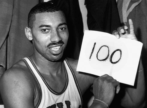 Score sheet from Wilt Chamberlain's 100-point Hershey game ...