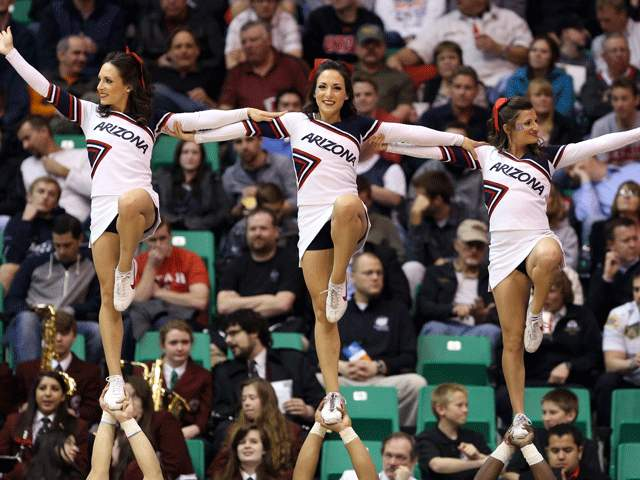 11 arizona wildcats basketball cheerleaders - 2013 ncaa tournament march madness cheerleaders