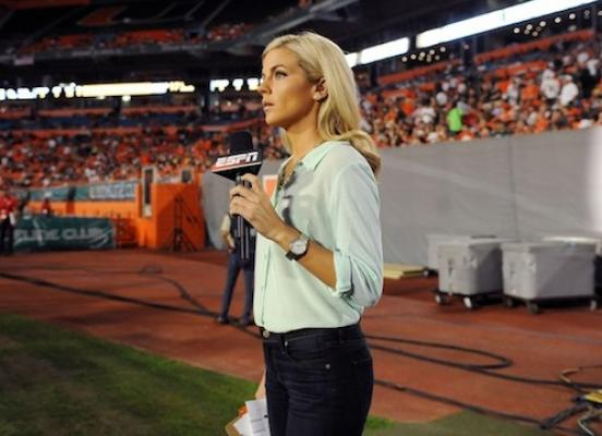 11 samantha steele ponder espn - most popular female sports reporters on twitter
