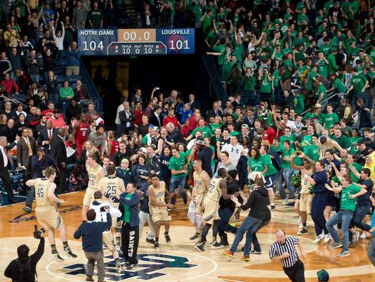 2 notre dame basketball (overtime upset louisville) - ncaa tournament underdogs