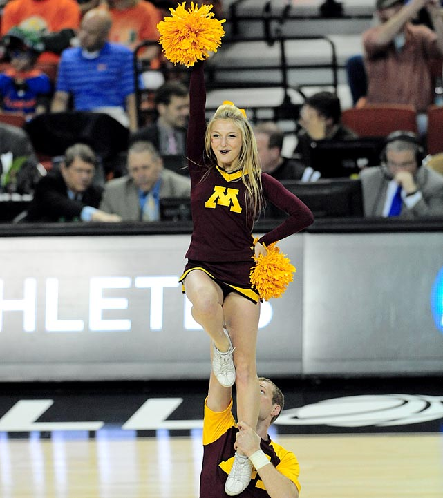 5 minnesota golden gophers basketball cheerleaders - 2013 ncaa tournament march madness cheerleaders 2