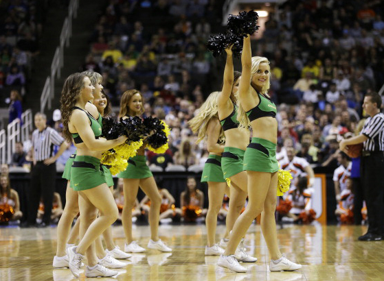 6 oregon ducks basketball cheerleaders - 2013 ncaa tournament march madness cheerleaders 2
