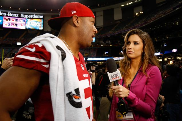 7 katherine webb super bowl inside edition - most popular female sports reporters on twitter