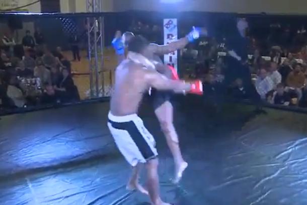 8 second mma knockout kick