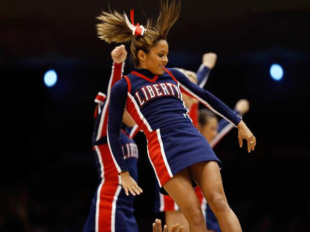 9 liberty flames basketball cheerleaders - 2013 ncaa tournament march madness cheerleaders