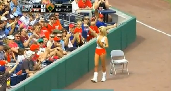 Hooters Ball Girl fail