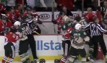 Chicago Wolves and Rockford IceHogs Engage in Epic St. Patty's Day Hockey Brawl (Video)