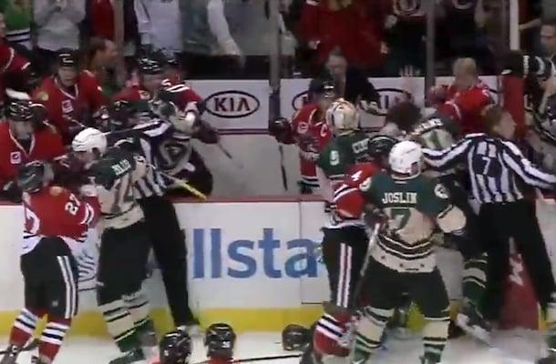 ahl hockey brawl (chicago wolves vs. rockford icehogs)