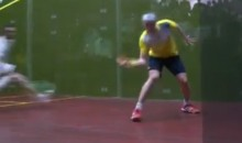 You Don't Have to Know Anything About Squash to Appreciate this Amazing Trick Shot (Video)