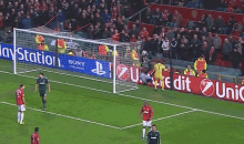 Ball Boy Fail: Kid Falls on His Head During Controversial Man United-Real Madrid UCL Match (GIF)