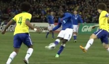 Mario Balotelli Scored a Gorgeous Goal for Italy Against Brazil Yesterday (Video)