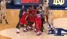 Big East Brawl: St. John's and Notre Dame Exchange Punches Late in Game (Video)
