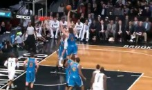 Brook Lopez Posterized His Twin Brother Robin Last Night (Video)
