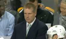 Bruins Coach Throws His Earpiece Over the Glass and into a Fan's Beer (Video)