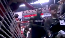 Chicago Bulls Fan Tries to Steal LeBron James' Sweatband Right Off His Head (Video)