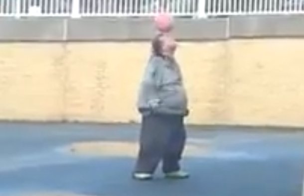 fat guy juggling soccer ball amazing welsh maradona