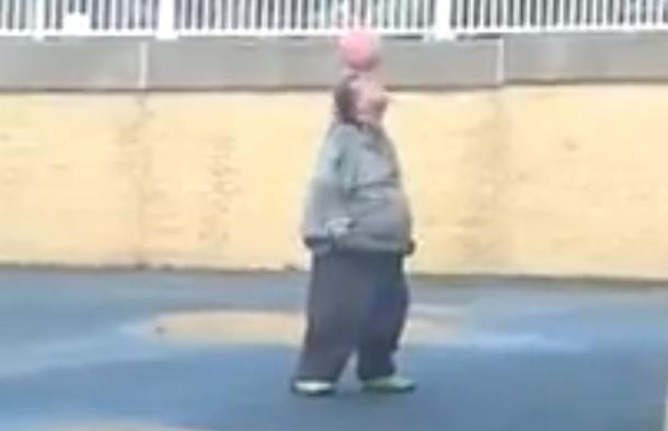 fat guy juggling soccer ball amazing welsh maradona