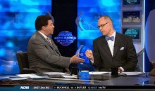 Greg Gumbel and Ernie Johnson Kick Off March Madness with a Poorly Executed Fist Bump (GIF)