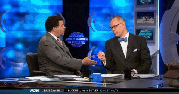 greg gumbel ernie johnson fist bump