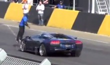 Guy Jumps Over Speeding Lamborghini Murcielago (Video)
