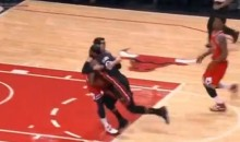 Kirk Hinrich Tackles LeBron James, Bulls End Miami Heat's Winning-Streak at 27 (Video)
