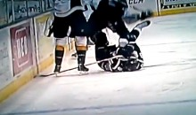 AHL Hockey Player Gets Face Slashed Open By Teammate's Skate Blade (Video)