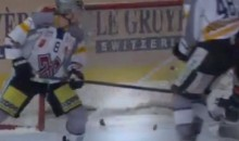 Hockey Puck Breaks in Half Following Goal During Swiss League Game (Videos)