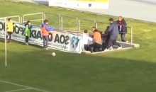 Italian Serie D Soccer Coach Attacks His Own Player (Video)