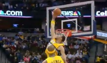 JaVale McGee Gives Us the Block of the Year (Video)