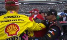 NASCAR Fight: Joey Logano Confronted Denny Hamlin After the Ford City 500 at Bristol (Video)