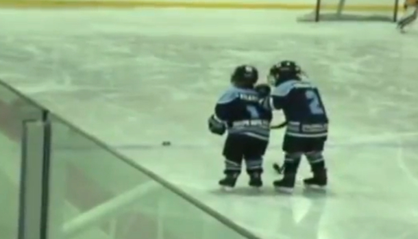 kid helps special needs teammate score a goal