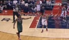 Bucks' Larry Sanders Hands Out Thumbs-Up to the Officials (Video)