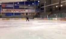 Evgeni Malkin Trick Shot: Flips Puck into Bucket From Center (Video)