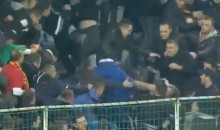 Montenegro Soccer Fans Brawl Amongst Themselves Before World Cup Qualifier Against England (Video)