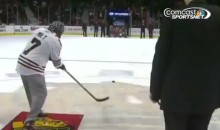 Mr. T Shoots During the Chicago Blackhawks Intermission Contest (Video)