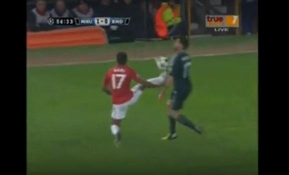 nani red card man u real madrid ucl