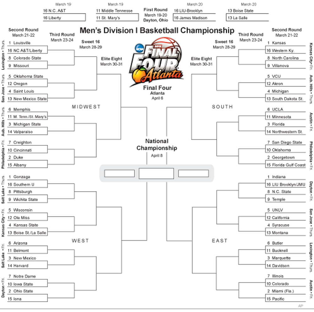 ncaa-2013-bracket-ncaa-tournament-trivia