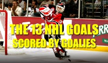 The 13 NHL Goals Scored by Goalies