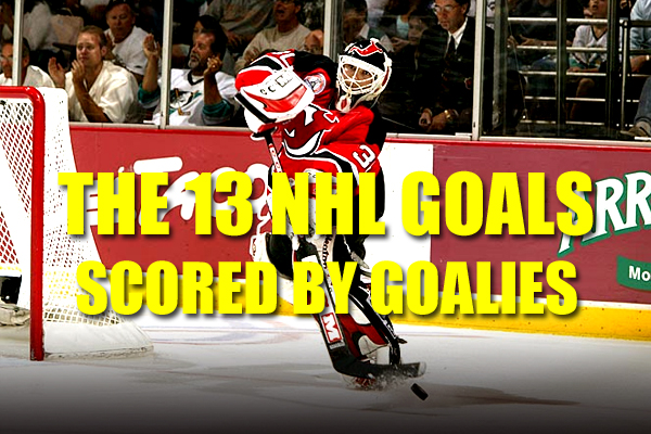 nhl goals scored by goalies