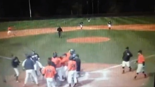 pitcher tackle collision at the plate