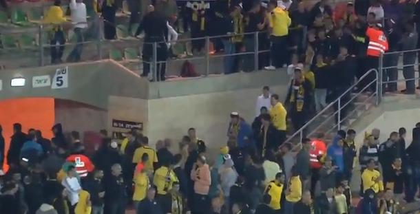 racist israel soccer fans