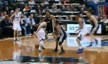 Ricky Rubio Makes the Spurs' Defense Look Silly with a Double Behind-The-Back Drive (Video)