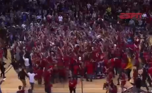 robert morris upsets kentucky celebration