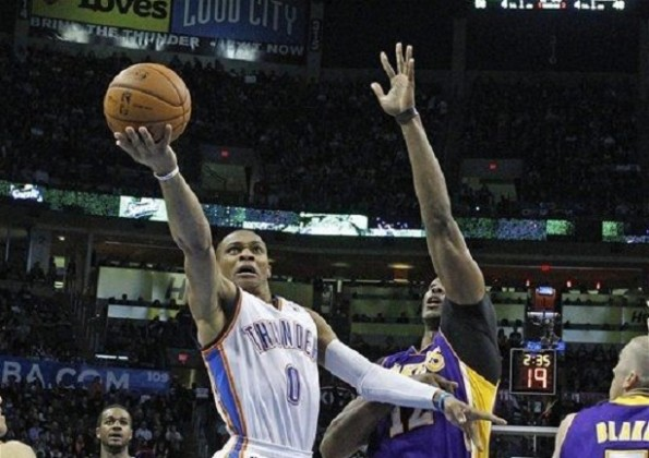 russell westbrook vs lakers