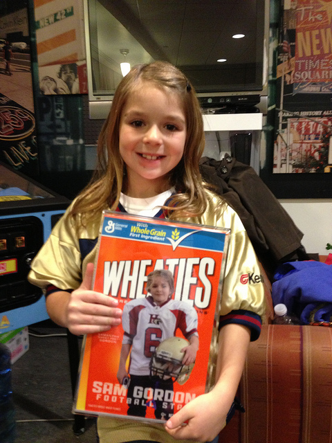 samantha gordon wheaties box - female sports firsts